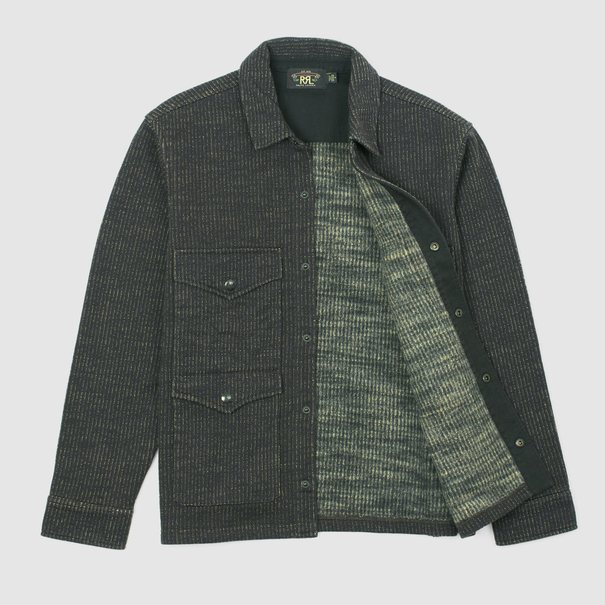 Double RL Cotton Blend  Fleece Shirt Jacket
