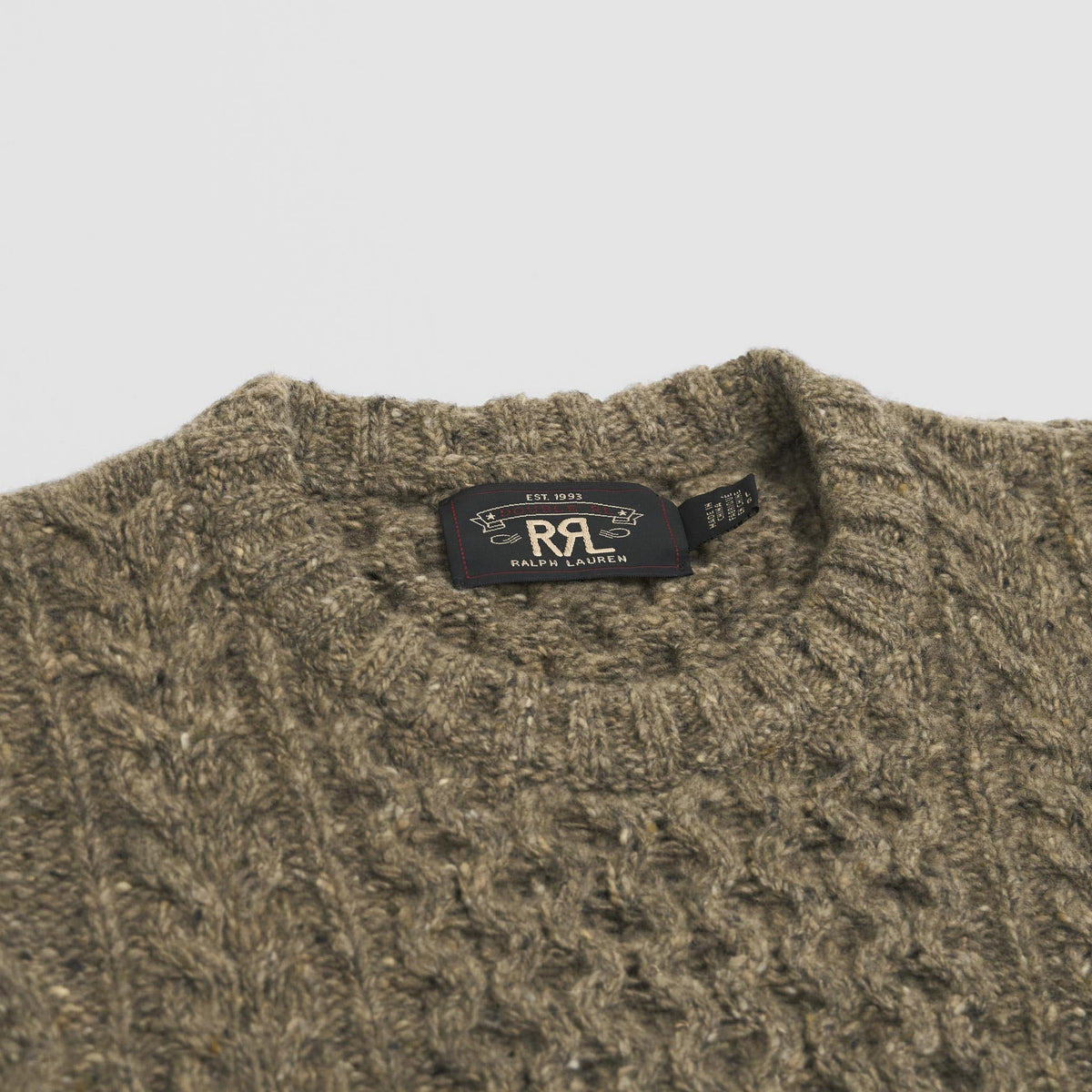 Double RL Knitted Pullover  Crew Neck