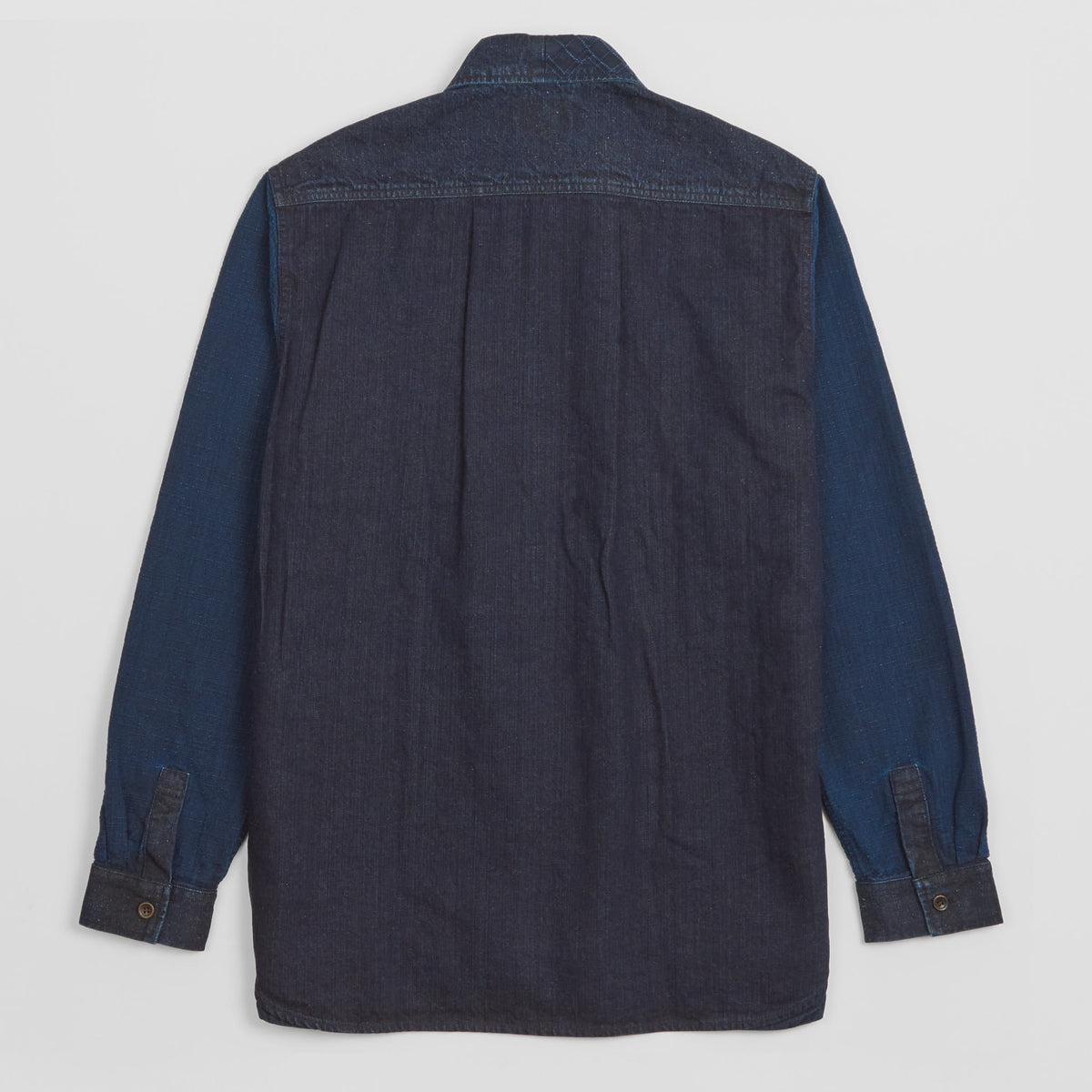 Koromo Sashiko Patchwork Long Sleeve Denim Shirt