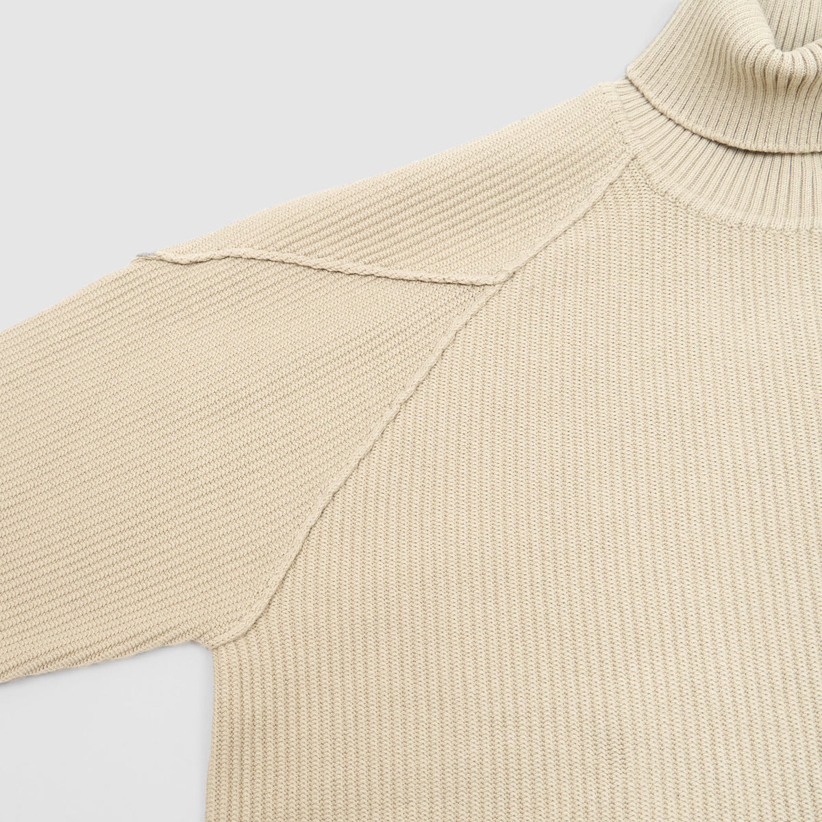 Stone Island Ghost Piece Knitted Cotton Blend Roll Neck Pullover