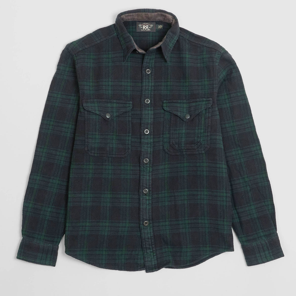 Double RL Heavy Cotton Flannel Overshirt