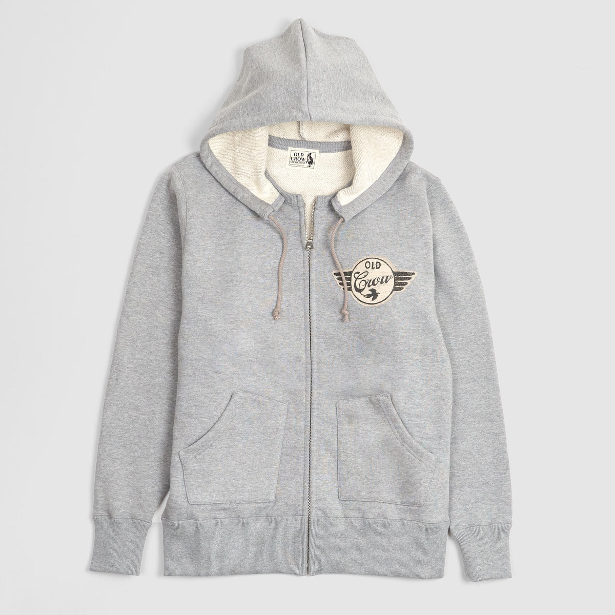Old Crow Speed Shop by Glad Hand & Co. Zip Up Hooded Sweatshirt