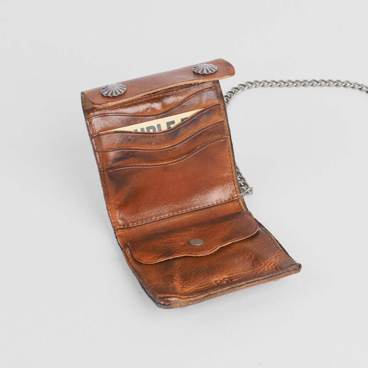 Double RL Natural Leather Trucker Wallet