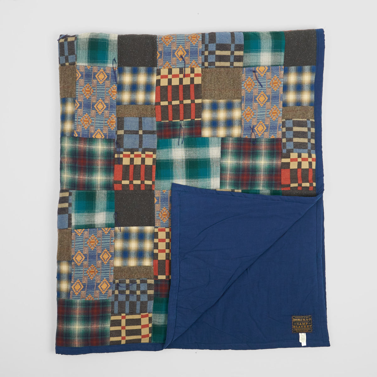 Double RL Quilted Patchwork Blanket Limited Edition