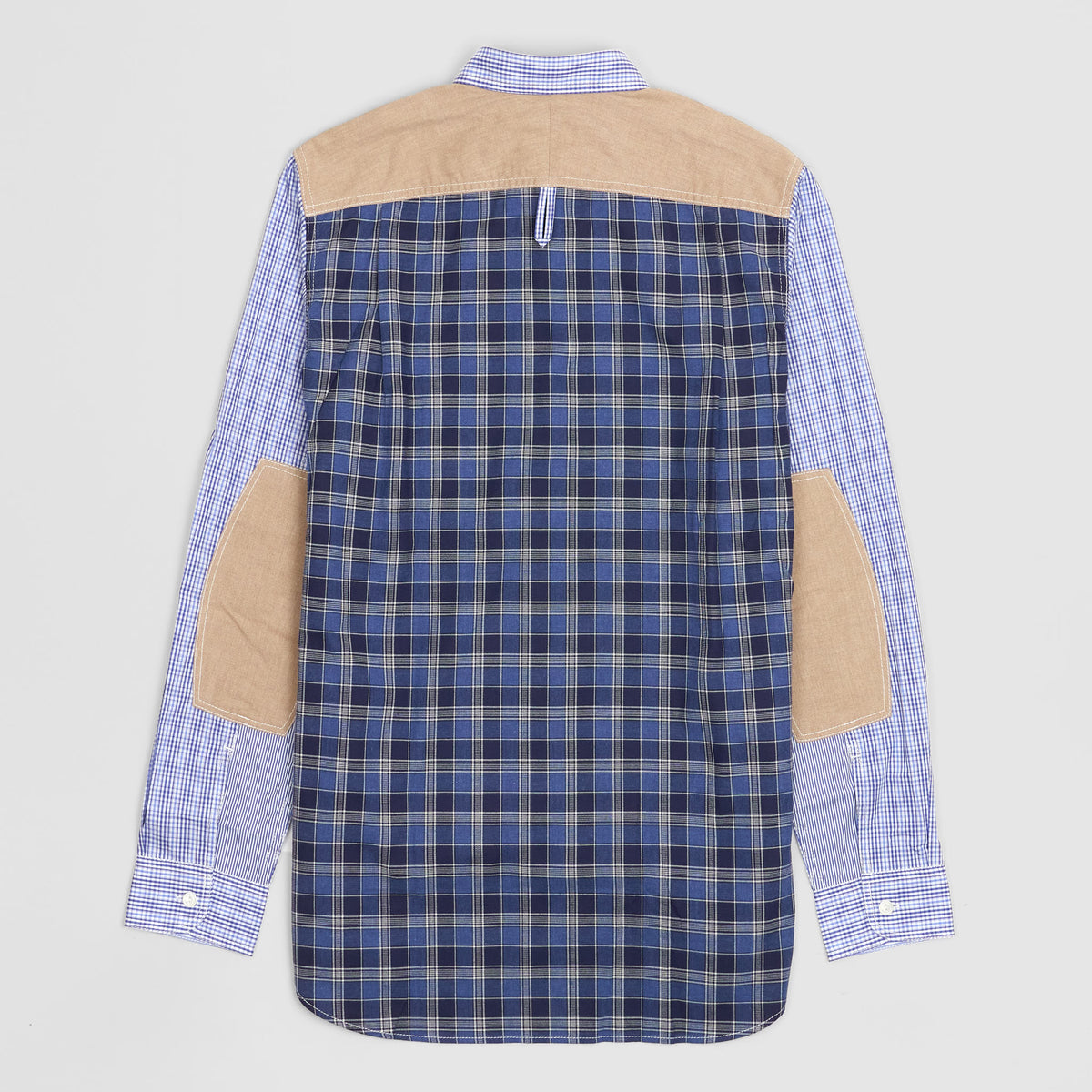 Junya Watanabe Man Plaid Patchwork Button Down Shirt