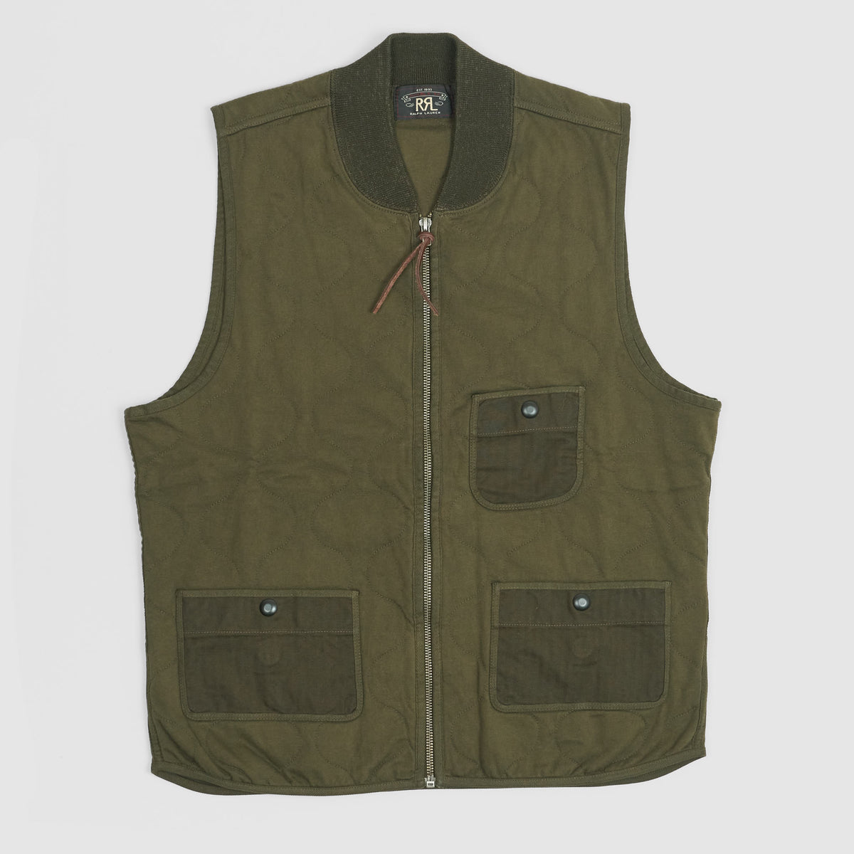 Double RL Wave Quilted Vest