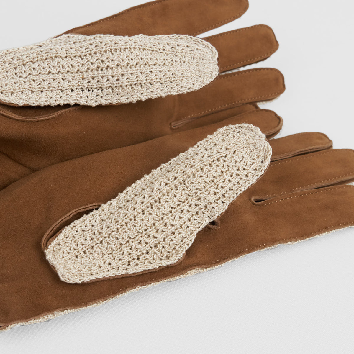 DeeCee style Leather and Cotton Hand Crafted Crochet Gloves