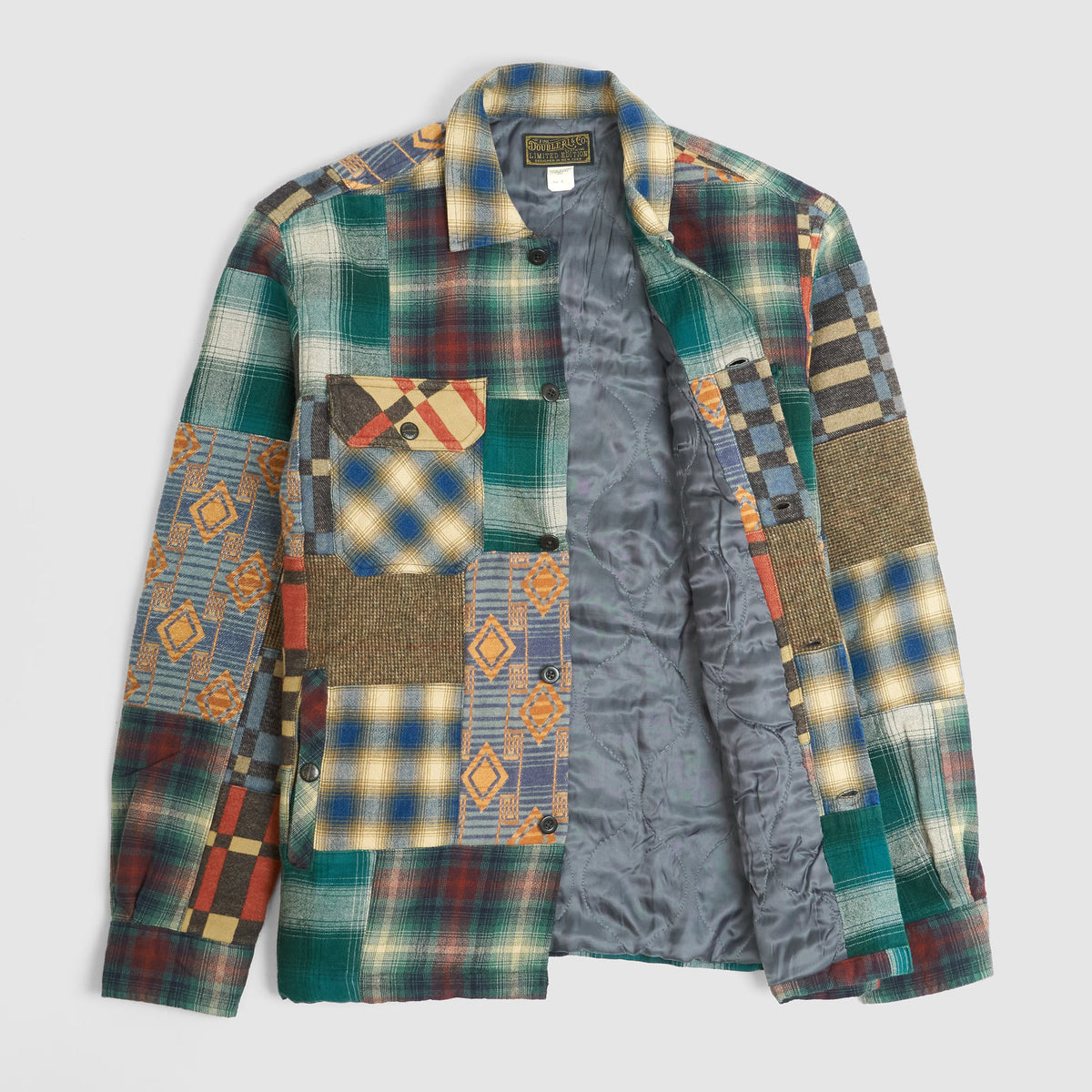 Double RL Quilted Overshirt Juno Patchwork