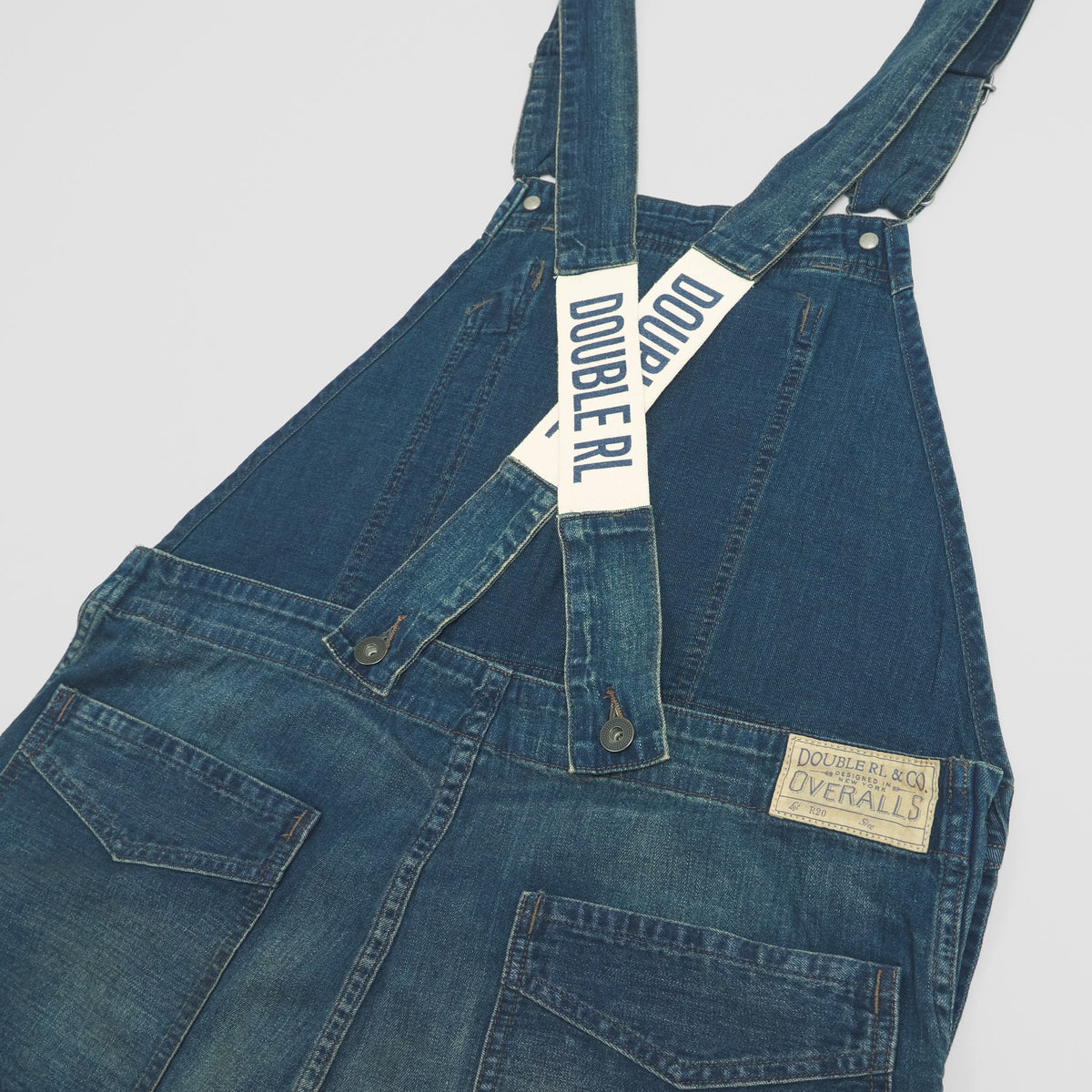 Double RL Heavy Washed Bib Overall