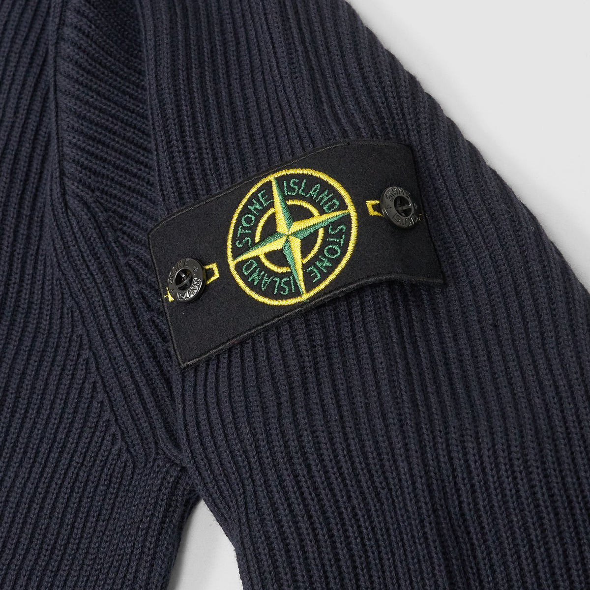 Stone Island Full-Zip Stand-Up Colar Cardigan