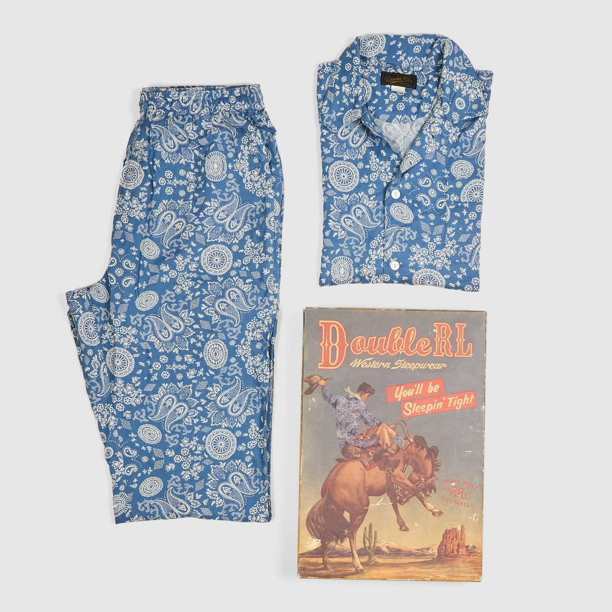 Double RL Western Homewear Pajama Set Limited Edition