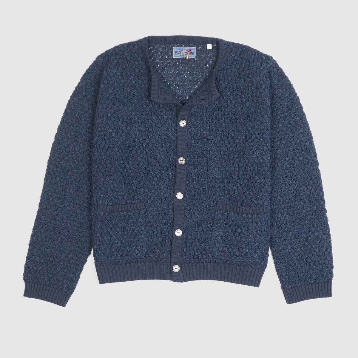 Blue Blue Japan Ladies Knitted Crew Neck Cardigan