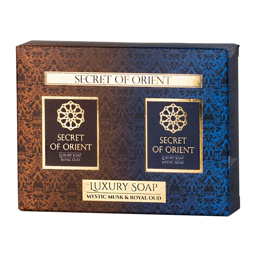 Set de Savon 2 x 115 g - Mystic Musk et Royal Oud - Luxury Soap Secret Of Orient