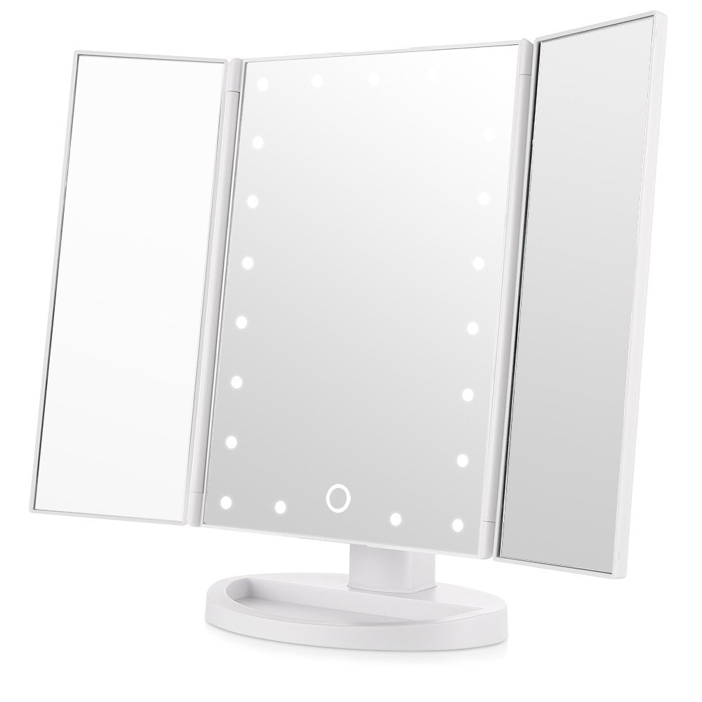 Miroir de maquillage lumineux, 10X 3X 2X 1X Miroir de table de maquillage 22 LED