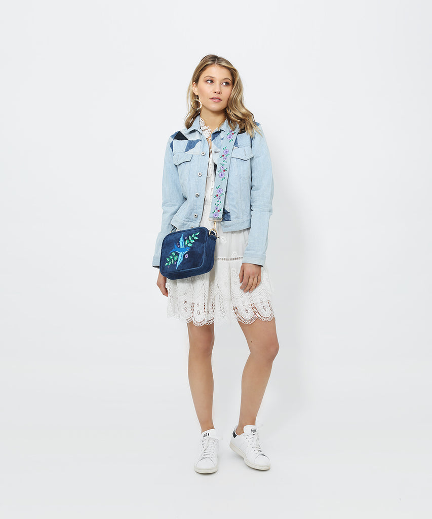 VV Blue Bird - Distressed Denim