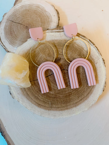 Mixed Media Hoop & Arch  Earrings