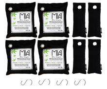 Load image into Gallery viewer, Bamboo Charcoal Odor Eliminating Bags: 12 pieces