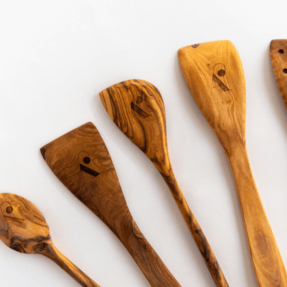 WREN Home - Theron Olive Wood Utensil Set