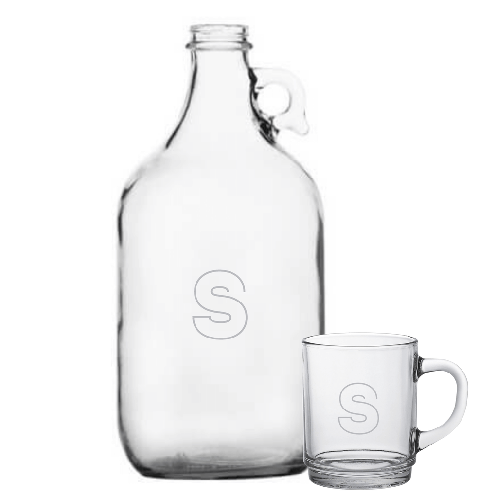 Birdie Glass Growler + Birdie Large Glass Mug - WREN