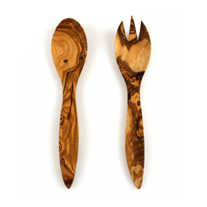 Theron Tramanto Olive Wood Salad Server Set - Tuscan - WREN