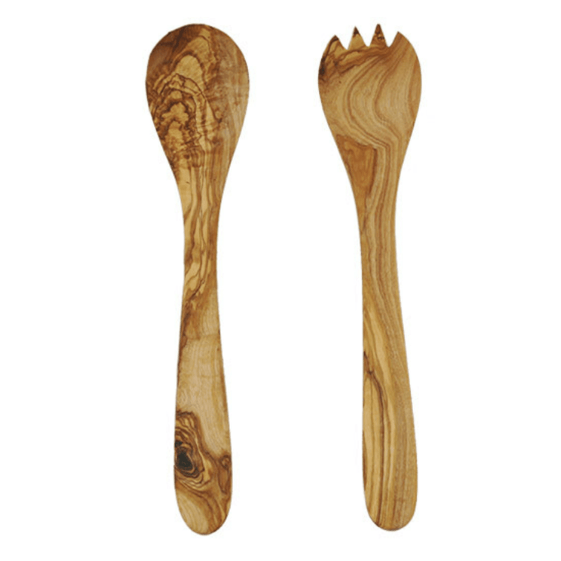 Theron Tramanto Olive Wood Salad Server Set - French - WREN