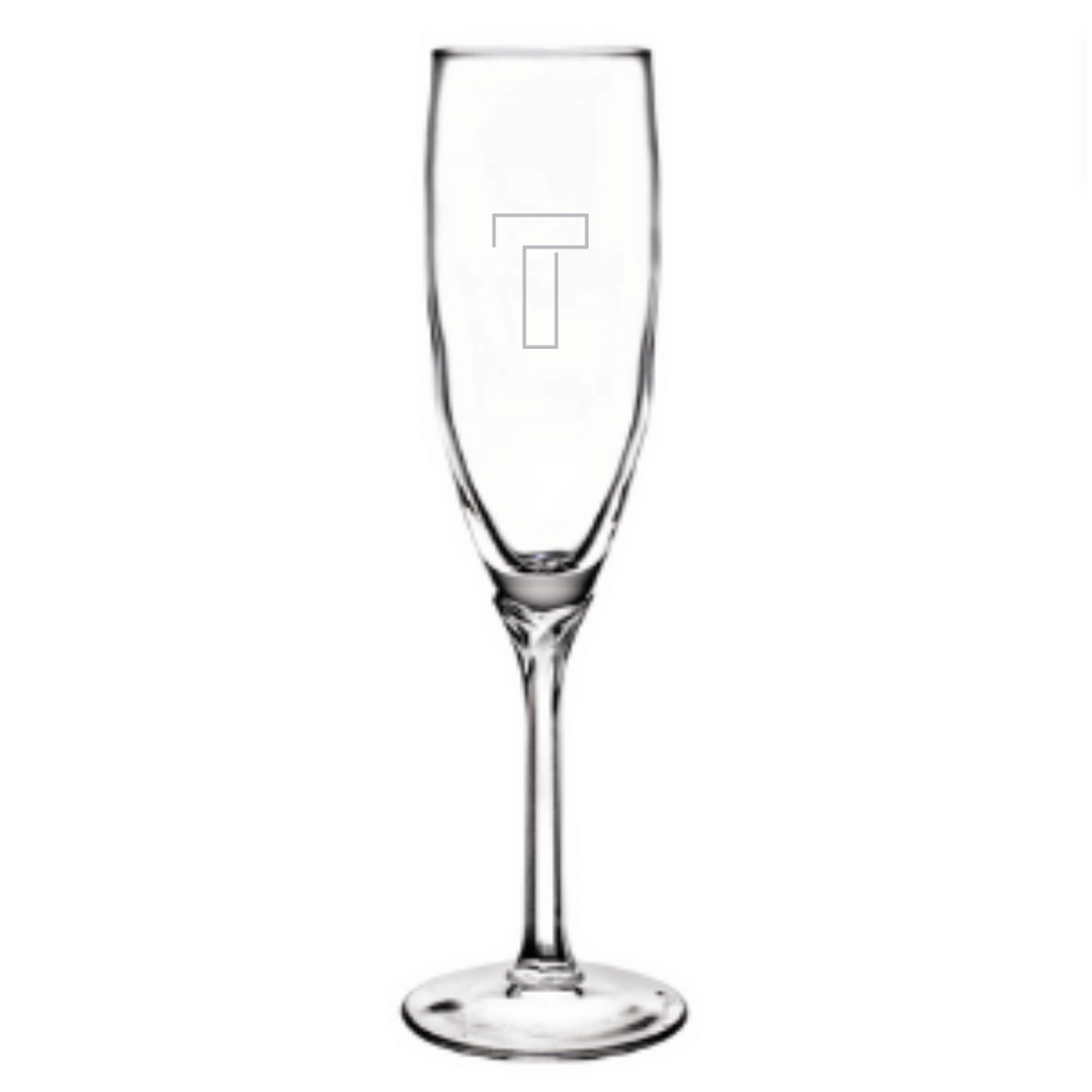 Birdie Glass Champagne Flutes (Set of 4) - WREN