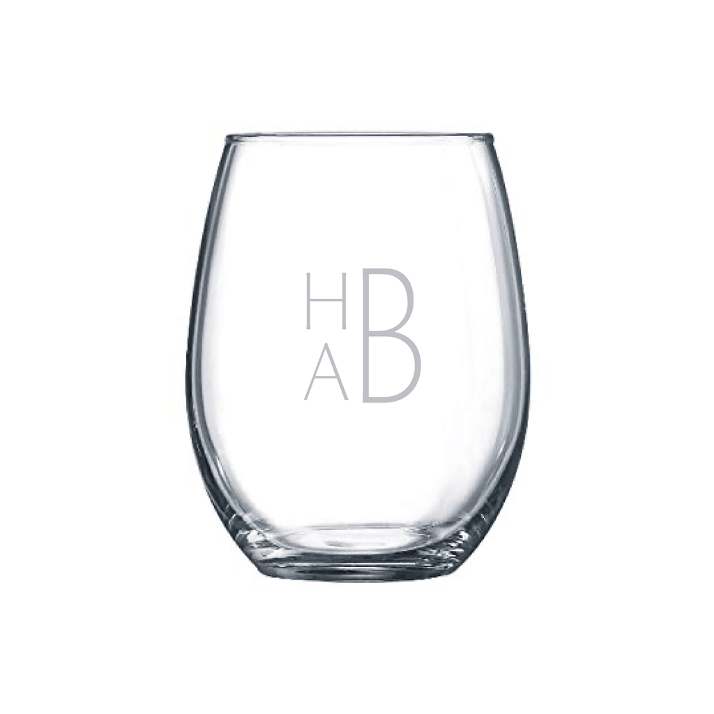 Birdie Stemless Wine Glass Set - WREN