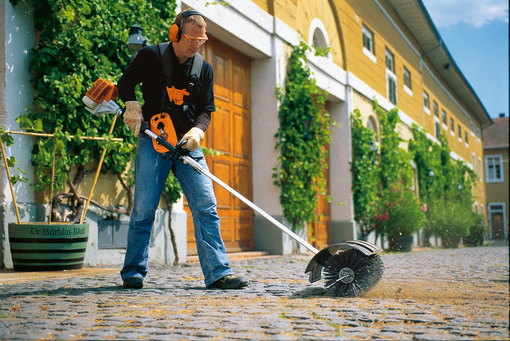 Stihl KB-KM Bristle Brush Sweeper Attachment for KombiTool System