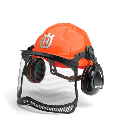 Classic Forest Helmet with Face and Ear Protection
