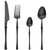 Black Dinnerware 18/10 Stainless Steel Cutlery Set Western Food Tableware Luxury Fork Teaspoon Knife Cutlery Set Drop shipping