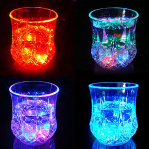Colorful LED Glowing Wine Whisky Cup Flash Light Glass Mug Bar Party Beverage Night Drink Cup
