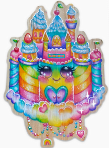 Kawaii Rainbow Castle Sticker