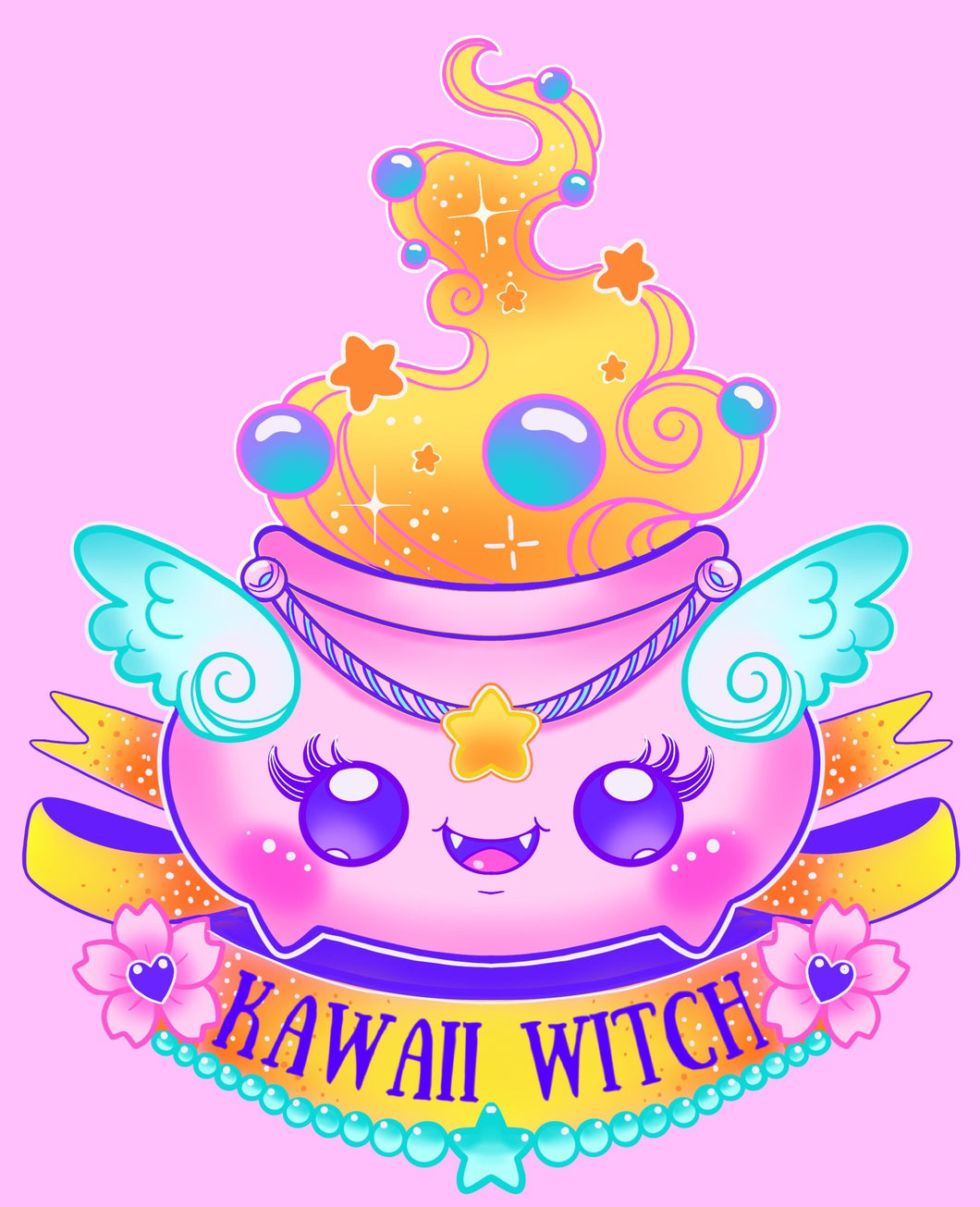 Kawaii Witch Mini Print