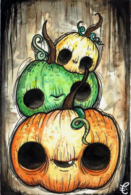 Pumpkin Stack Oversized Postcard Print