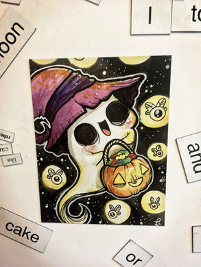 Ghost Trick or Treat Magnet