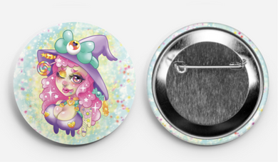 Cotton candy witch BIG button