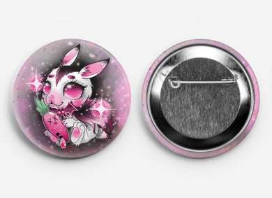 Vampire Bunny Big Button Pin