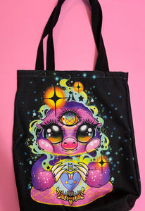 Psychic Sloth Tote Bag