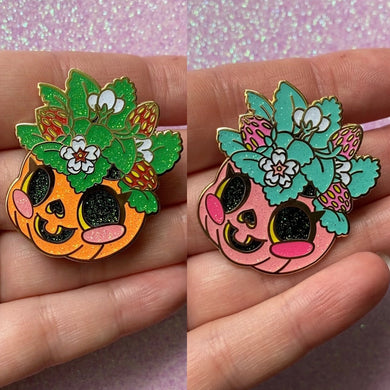 Jack-o-planter Enamel Pin