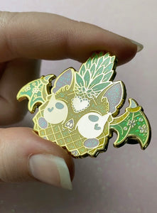 Pineapple Fruit Bat Enamel Pin