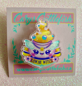 Kawaii Witch Acrylic Pin