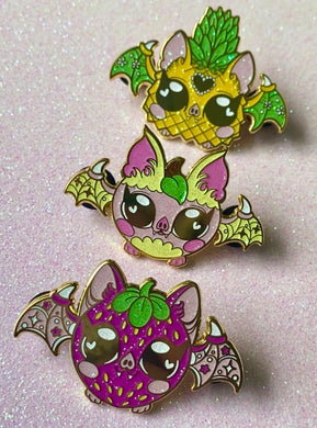 Fruit Bats Enamel Pin Bundle