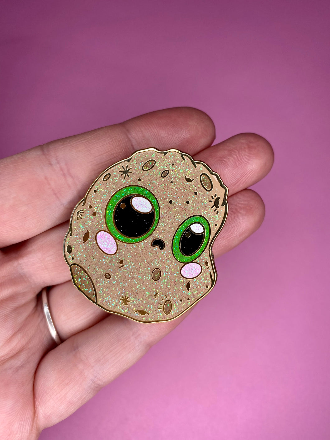 Potato Worry Wart Pin