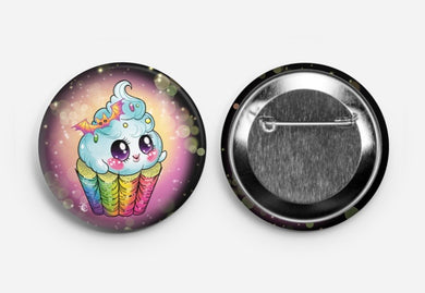Ghost cupcake BIG button