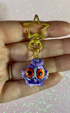 Tie dye swirly head worry wart charm