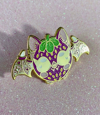 Strawberry Fruit Bat Enamel Pin