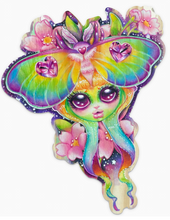 Load image into Gallery viewer, Rainbow Lunar Moth Sticker