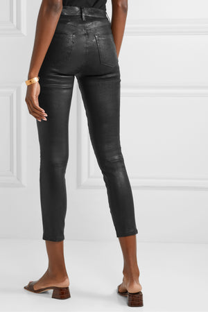 Alana Leather High Rise Cropped Skinny
