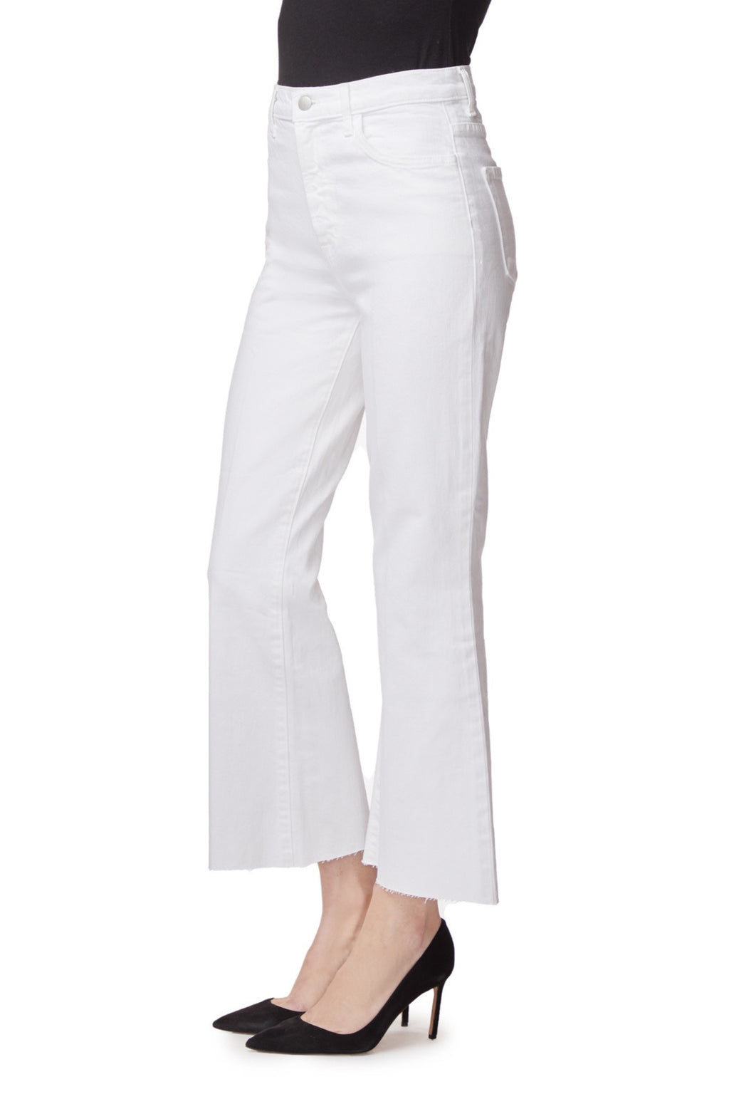 Julia High Rise Flare White