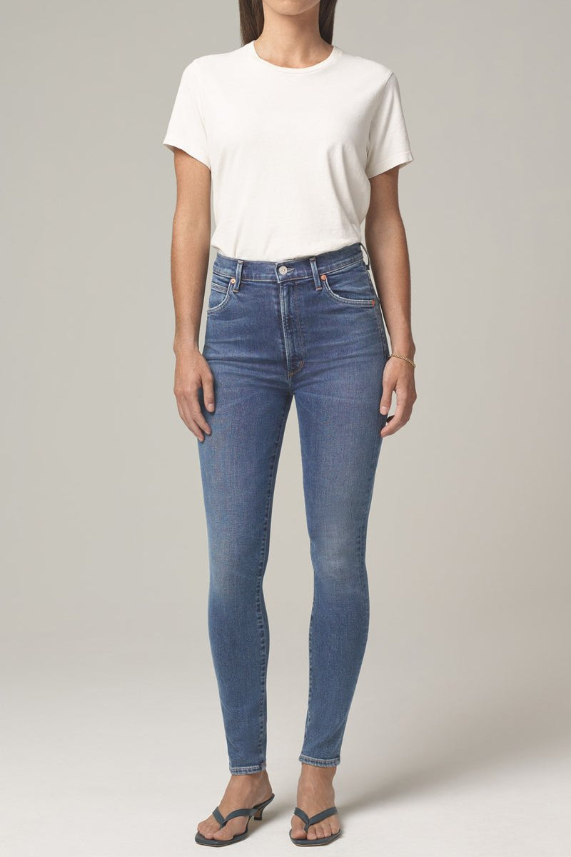 Chrissy High Rise Skinny Fit in Story